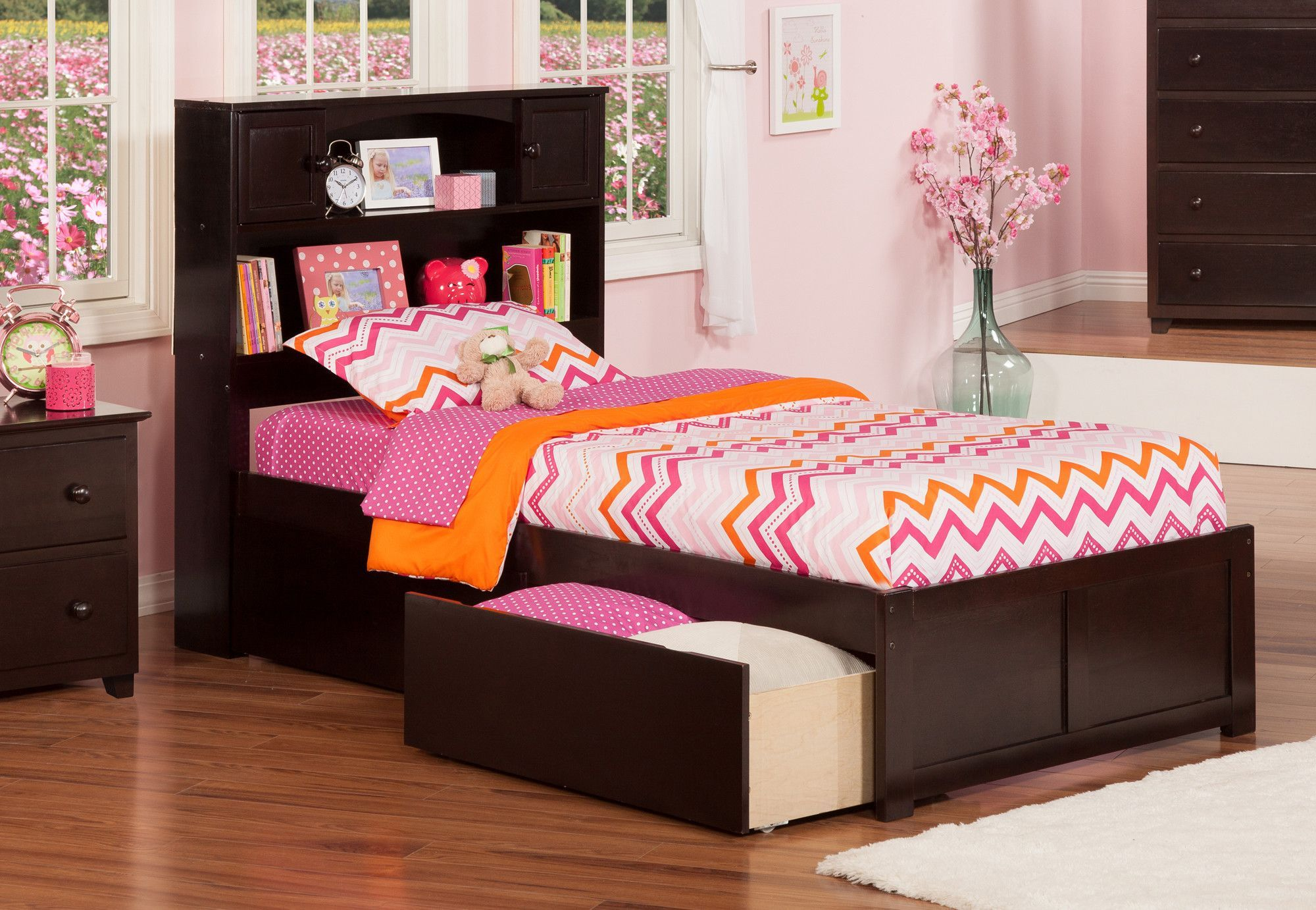 Newport Extra Long Twin Platform Bed With Storage Atlantic