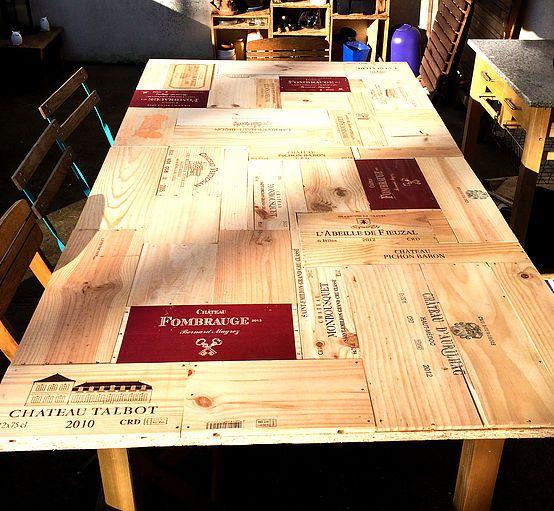 table en caisse vin bricolage pinterest caisse. Black Bedroom Furniture Sets. Home Design Ideas