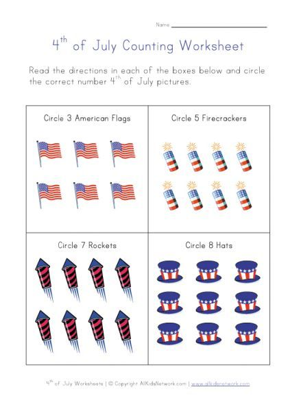 4th Of July Information Worksheet July 4thindependence Day