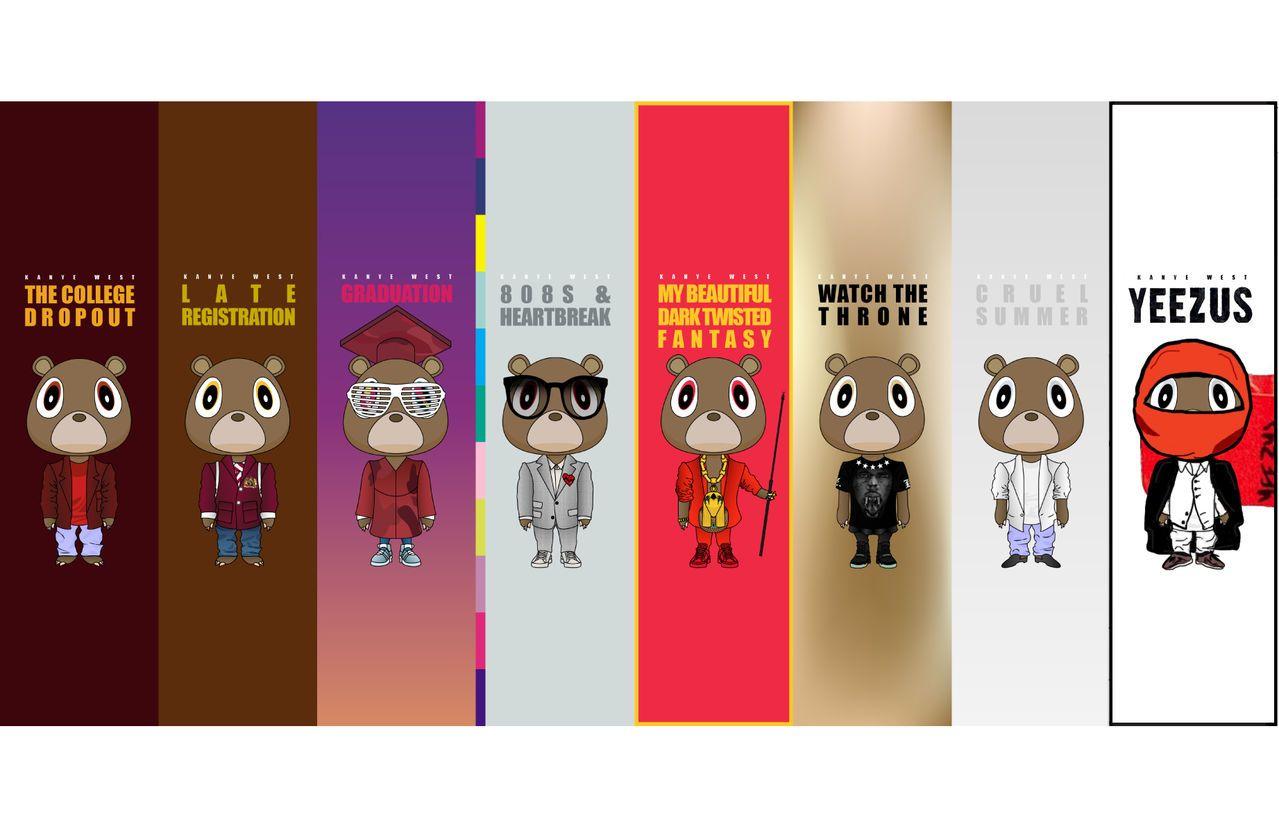 Evolution Of The Kanye West Bear Kanye West Bear Kanye West Graduation Kanye