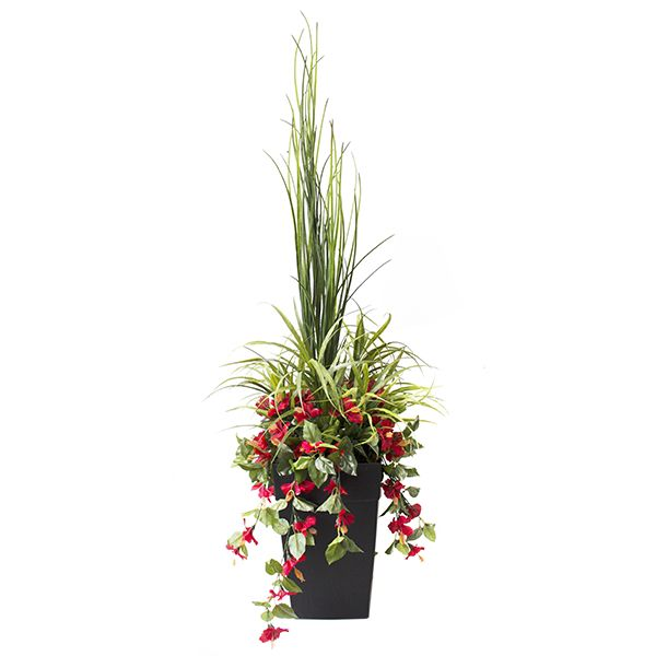 Arrangement ext rieur verdure en pot 20 x20 x 70 39 39 pot for Gros pot fleur exterieur