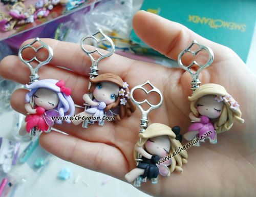 1lucky fairy with key ooak necklace made in italy by AlchemianShop, €25.00