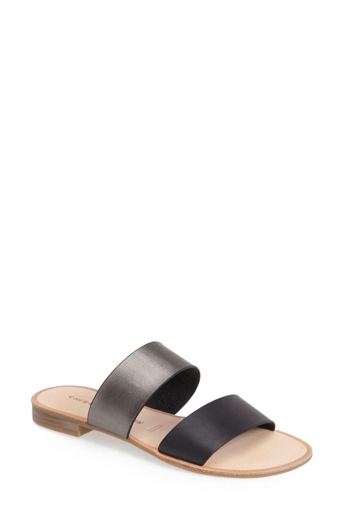 b156cc6cb0a9 Gimme faux double strap slide sandal slide sandals free shipping jpg  1200x1800 Two straps slides women