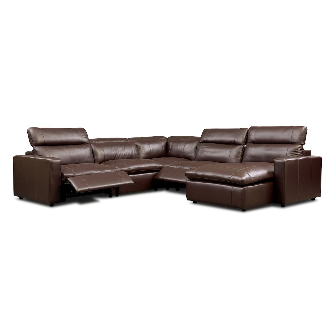 Happy 5 Piece Dual Power Reclining Sectional With Chaise