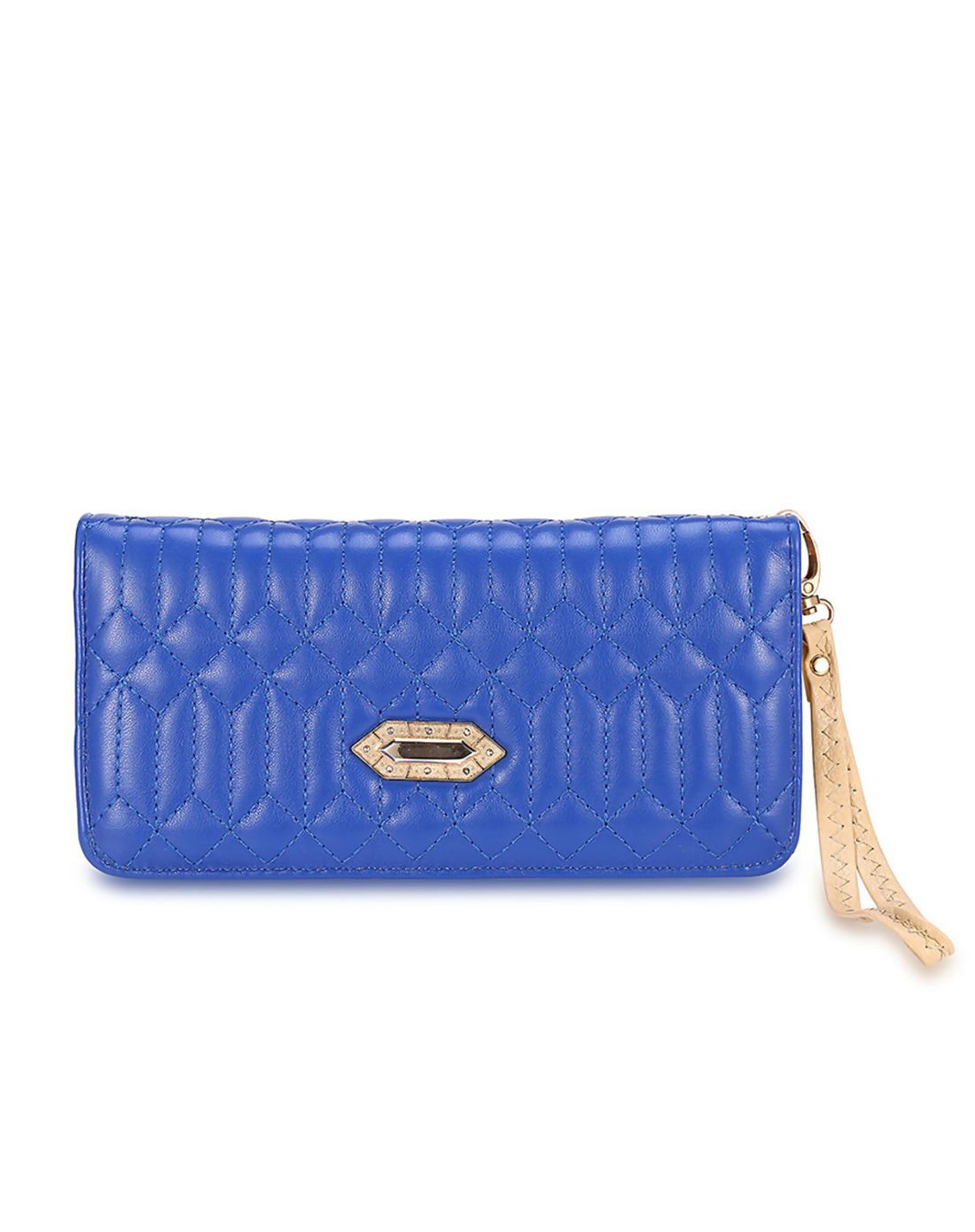 #AdoreWe #VIPme Wallets - MANLI Blue Plaid Hand Strap Zipper Around Lady's Wallet - AdoreWe.com