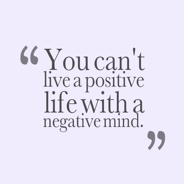 how to clear mind from negative thoughts