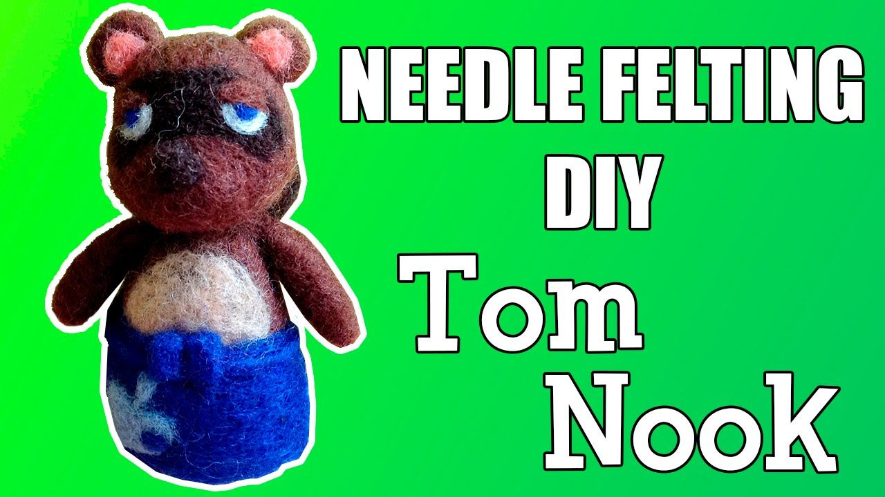 Needle Felting DIY - Tom Nook (Animal Crossing)