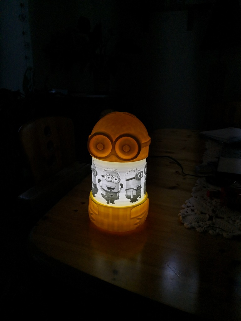 Yellow Light Minnion Lamp Table Table Lamp Lamp Light