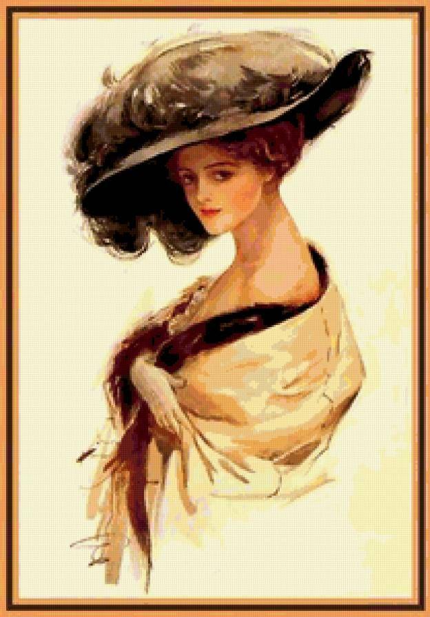 Вышивки портреты дам