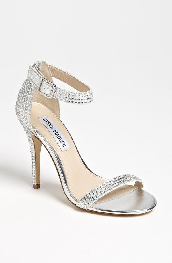 5 Chic Ankle Strap Wedding Heels Under 120 Including These Blinged Out Slippers