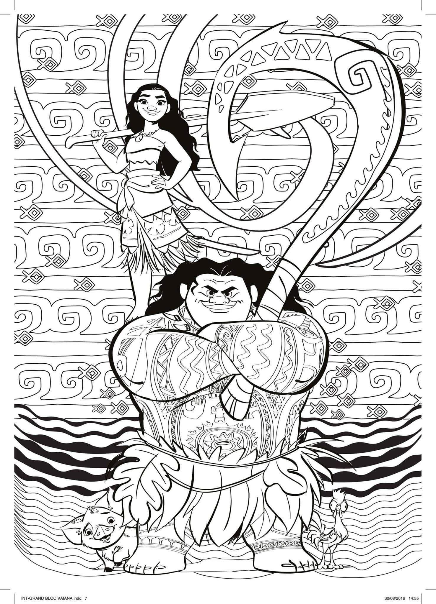 29 Vaiana Ausmalbilder-Ideen  vaiana ausmalbilder, vaiana