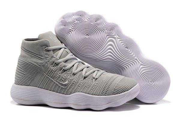 Nike Hyperdunk 2017 Original Nike React Hyperdunk 2017 Flyknit Cool Grey Silver  Basketball Shoe For Discount