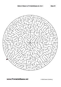 This Pdf File Includes 10 Intermediate Mazes In Several Shapes The