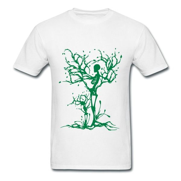 Tree Skeletons White Adult Standard Weight T-shirt For Men HICustom.net