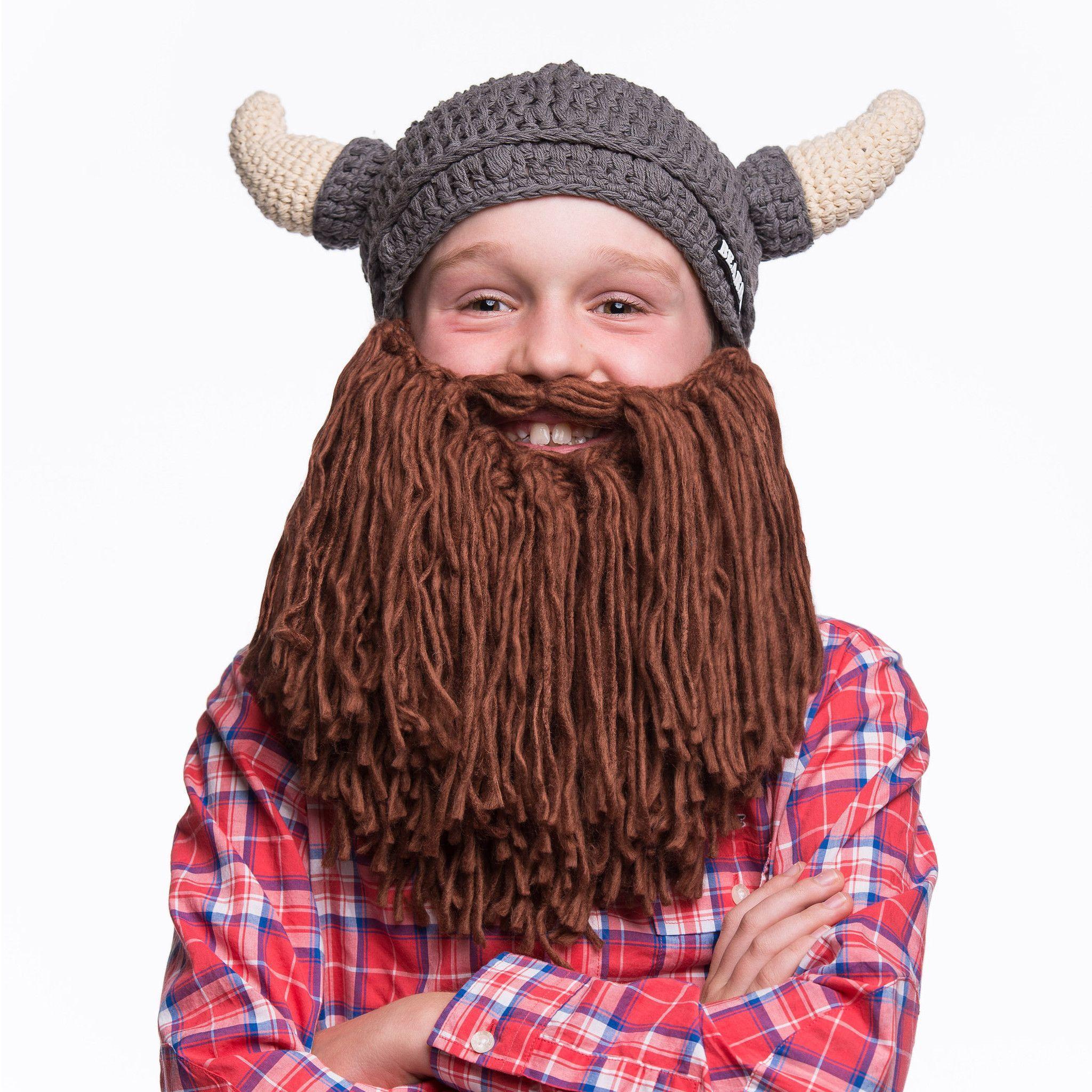 Horned Viking Beard Hat for Kids | Pinterest | Gorro tejido, Tejido ...