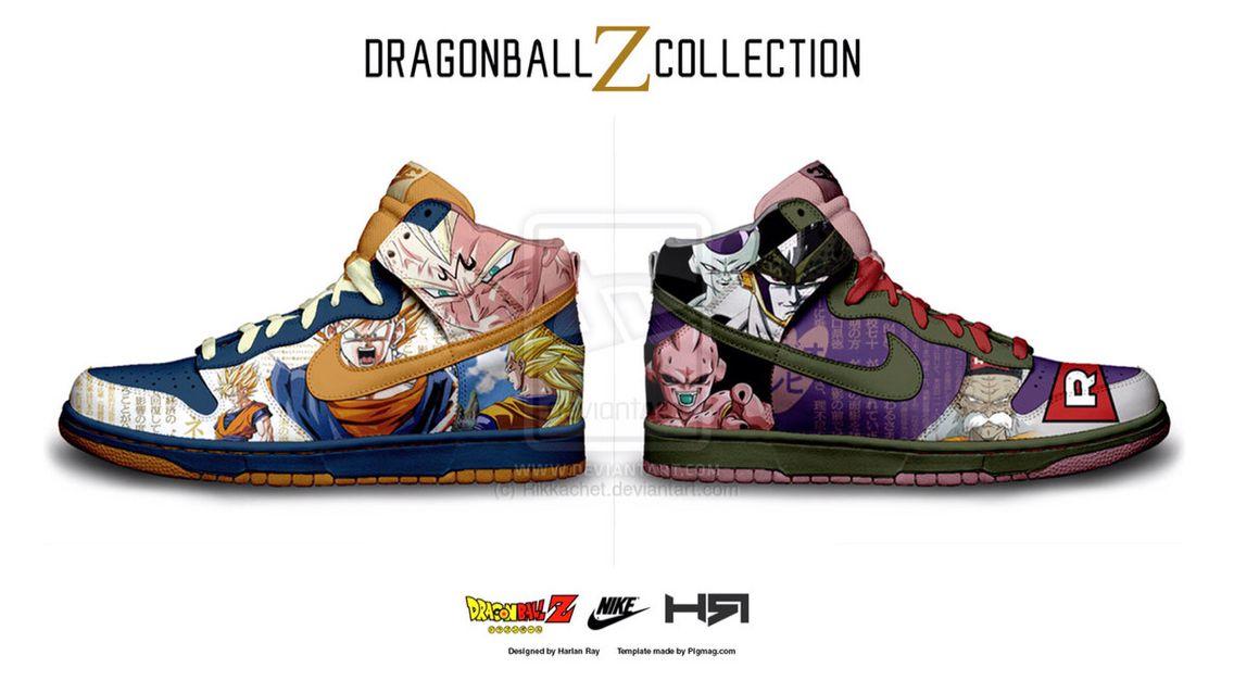 este cráneo mucho  Dragon ball Z Nike High top | Dragon ball z, Dragon ball, Top collection