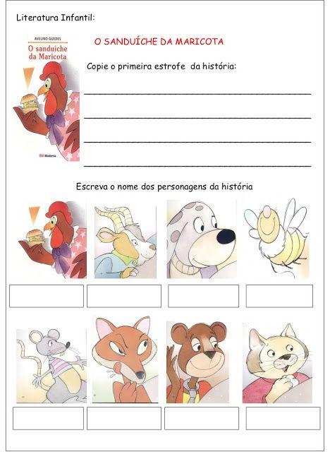 O Sanduiche Da Maricota Tarefas Infantil Literatura Infantil