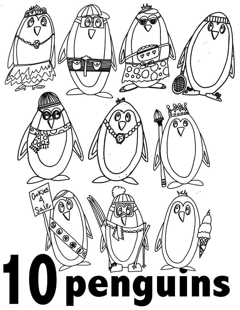 Penguin 's 1 through 10 10 Free Preschool