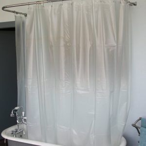Extra Wide Shower Curtain Liner For Clawfoot Tub