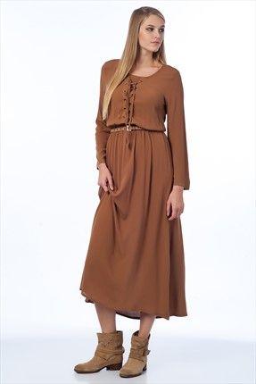 Sutlukahve Elbise Kkk3606 Elbise The Dress Giyim