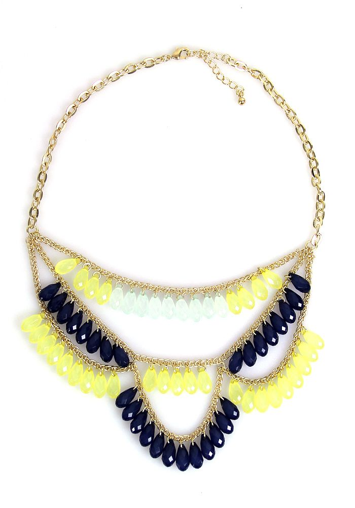Southern Sweet Tea Necklace: Navy - $19.99 : Spotted Moth, Chic and sweet clothing and accessories for women