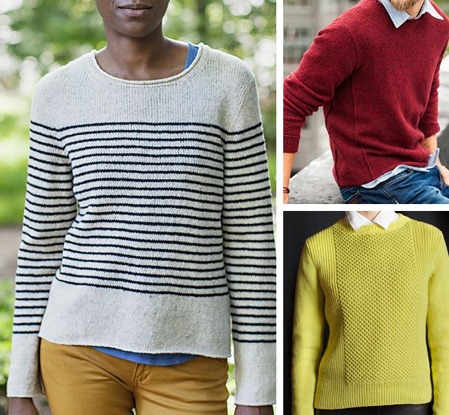 """d002b9f3b4e8 Seamed sweater patterns for first-timers in """"Pullovers for first-timers   Or"""