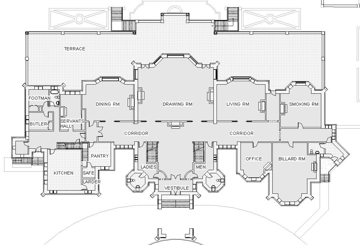 Hatley Castle Level One Castle Floor Plan Castle House Plans Architectural Floor Plans