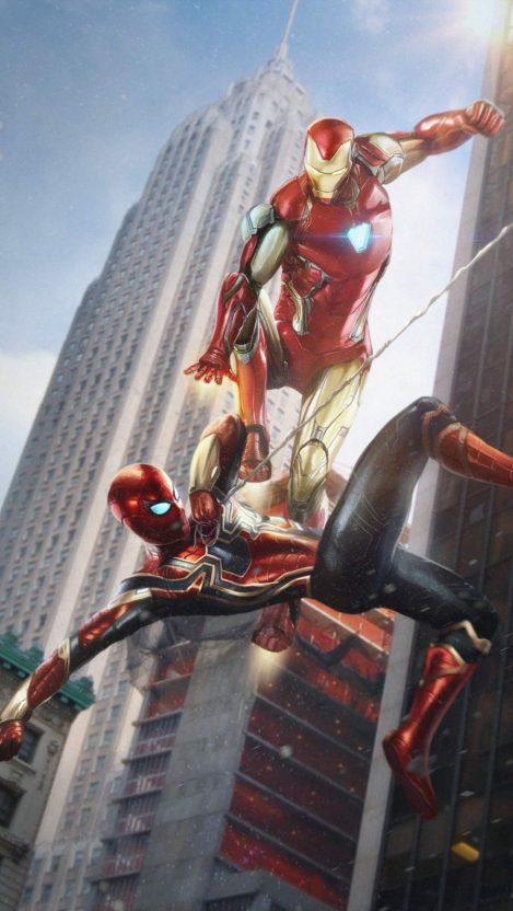 Spiderman And Ironman Wallpaper : spiderman, ironman, wallpaper, Ironman, Spider, IPhone, Wallpaper, Fondo, Pantalla, Superhéroes, Marvel,, Personajes, Marvel
