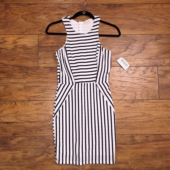 Black and white striped bodycon dress without canada brand exchange