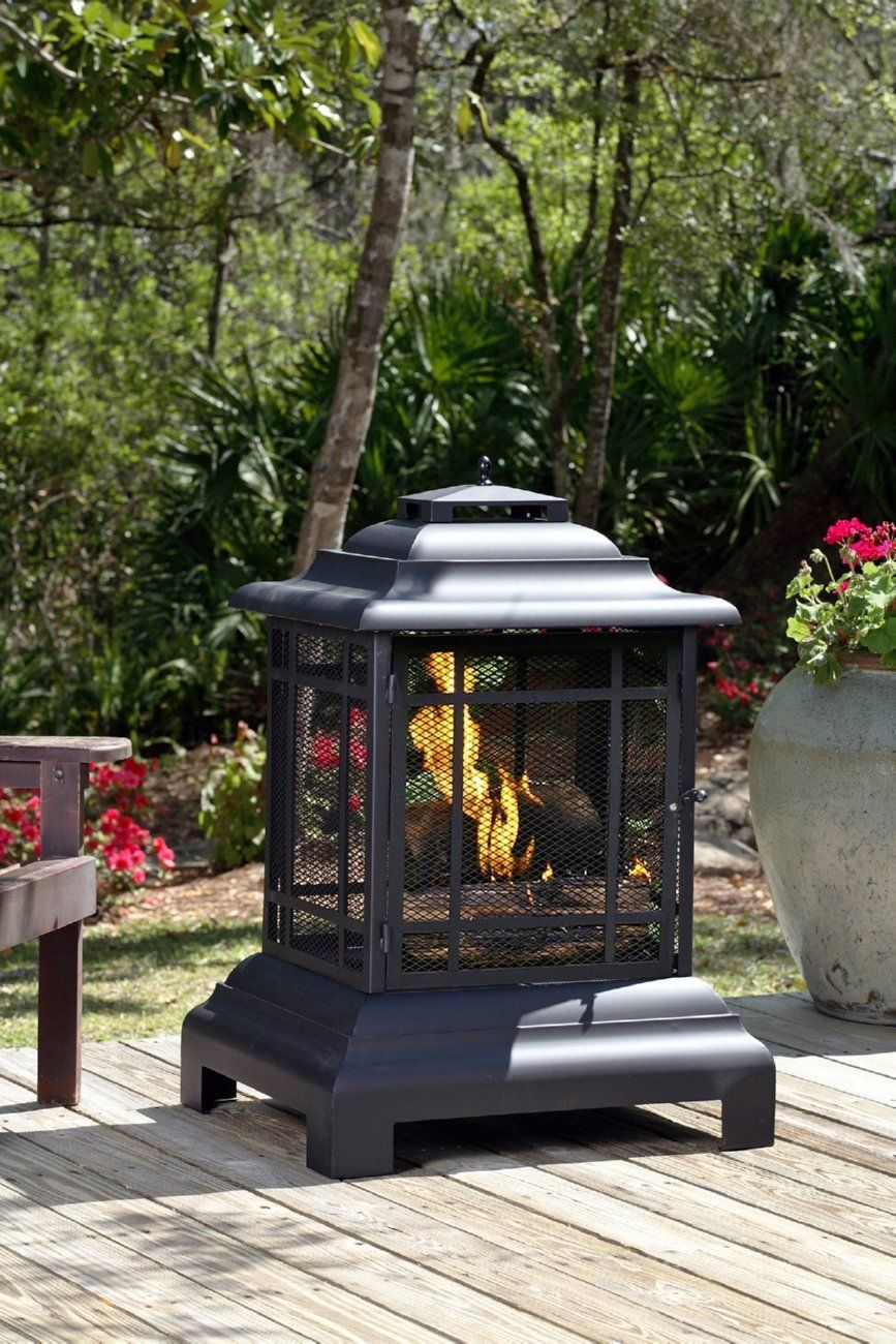 Rectangle Pagoda Patio Fireplace Well Traveled Living Firesense 02679 In 2020 Patio Fireplace Fire Pit Backyard Outdoor Fireplace Designs