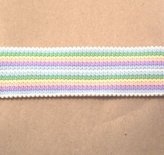1 Yard of 1 Wide Striped Pastel Colour Woven by BusyBeaverBoutique, $3.00