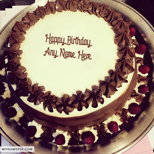 Chocolate Ice Cream Birthday Cake Image With Name sukkur