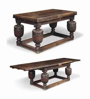 An Elizabethan Oak Draw Leaf Table Draw Leaf Table European