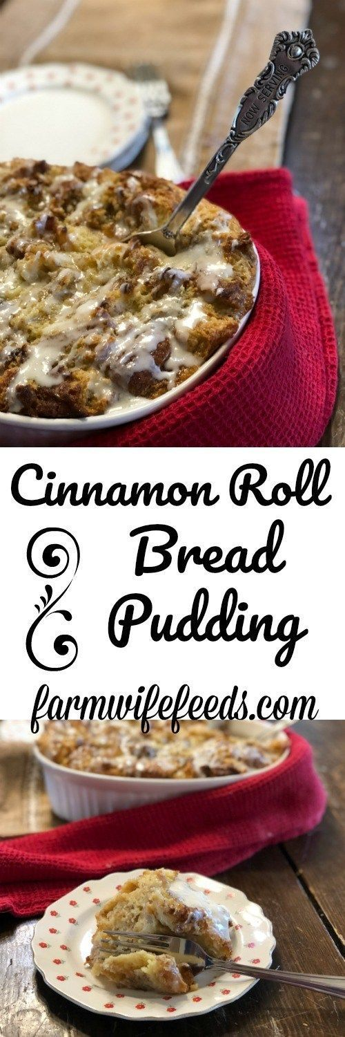 Cinnamon Roll Bread Pudding from Farmwife Feeds is a sweet breakfast treat, a delicious dessert served with ice cream or a great afternoon snack. Roll Bread Pudding from Farmwife Feeds is a sweet breakfast treat, a delicious dessert served with ice cream or a great afternoon snack.