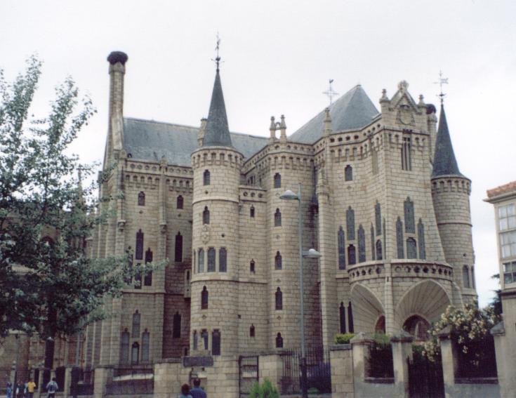Gaudi's Astorga Palace, Spain