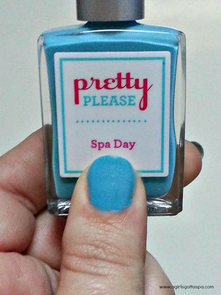 Name Your Own Nail Polish with Pretty Please | Teal nail polish