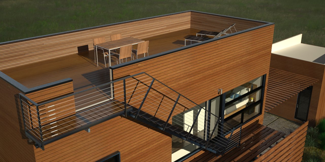 K Street Guest House Rendering Of Rooftop Deck Livingston Peak Elevation 9295 Ft Can Be Seen To The South Guest House Rooftop Deck House