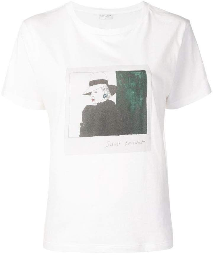 144729ce3 Saint Laurent photographic print T-shirt in 2019 | Products | Shirts ...