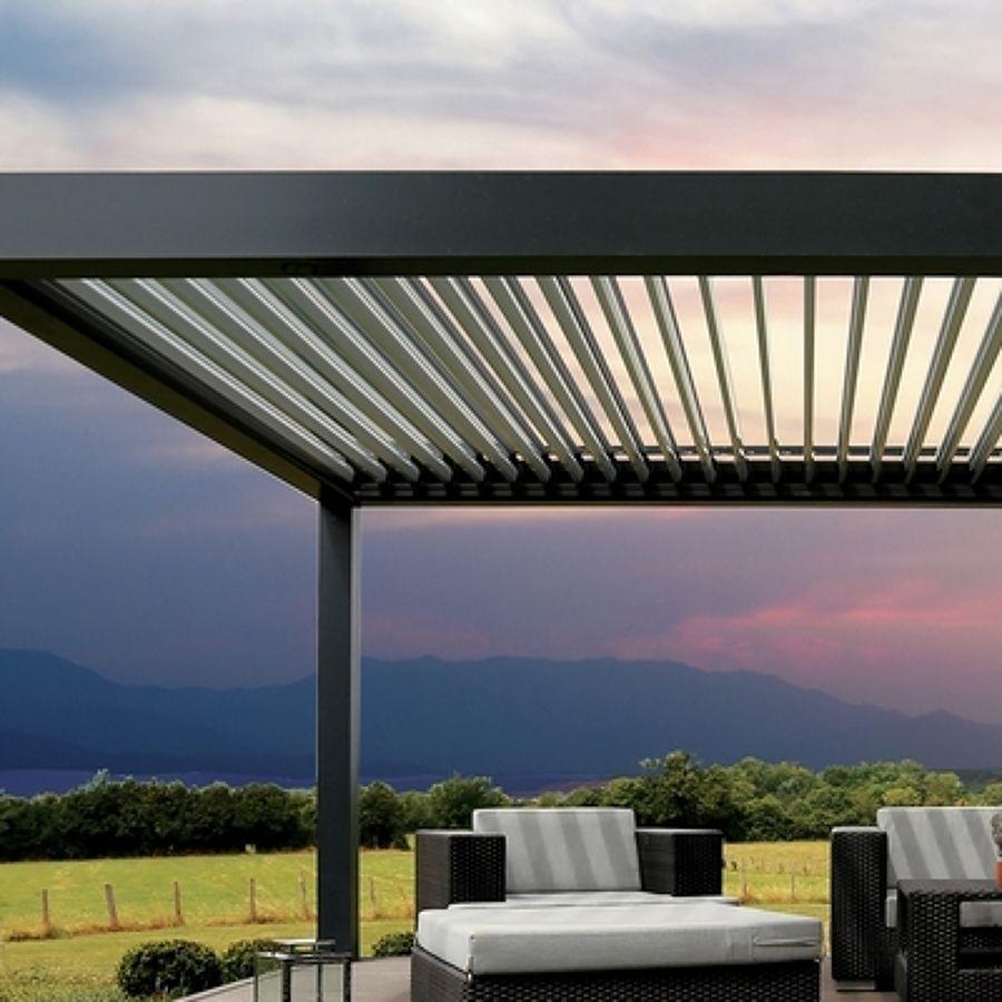 Pergola moderna aluminio 6 x 2 60 cm sevilla buscar con - Pergolas de aluminio para terrazas ...