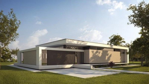 Casas modernas de una planta fachadas de casas casas for Fachadas casas modernas de una planta