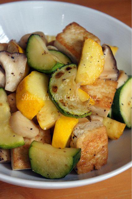 Stir-Fried Tofu, Zucchini and Mushroom by babe_kl, via Flickr