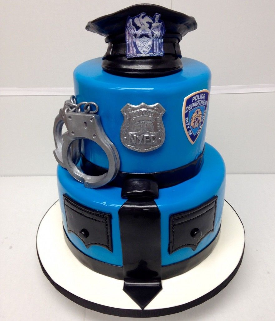 Groovy Cool Police Cake With Images Police Birthday Cakes Birthday Funny Birthday Cards Online Alyptdamsfinfo