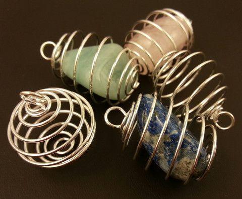 Spiral gemstone holder pendant infinity crystal www spiral gemstone holder pendant infinity crystal infinitycrystal aloadofball Images