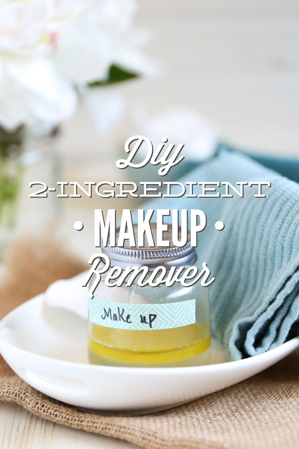 DIY 2Ingredient Makeup Remover (Without Coconut Oil