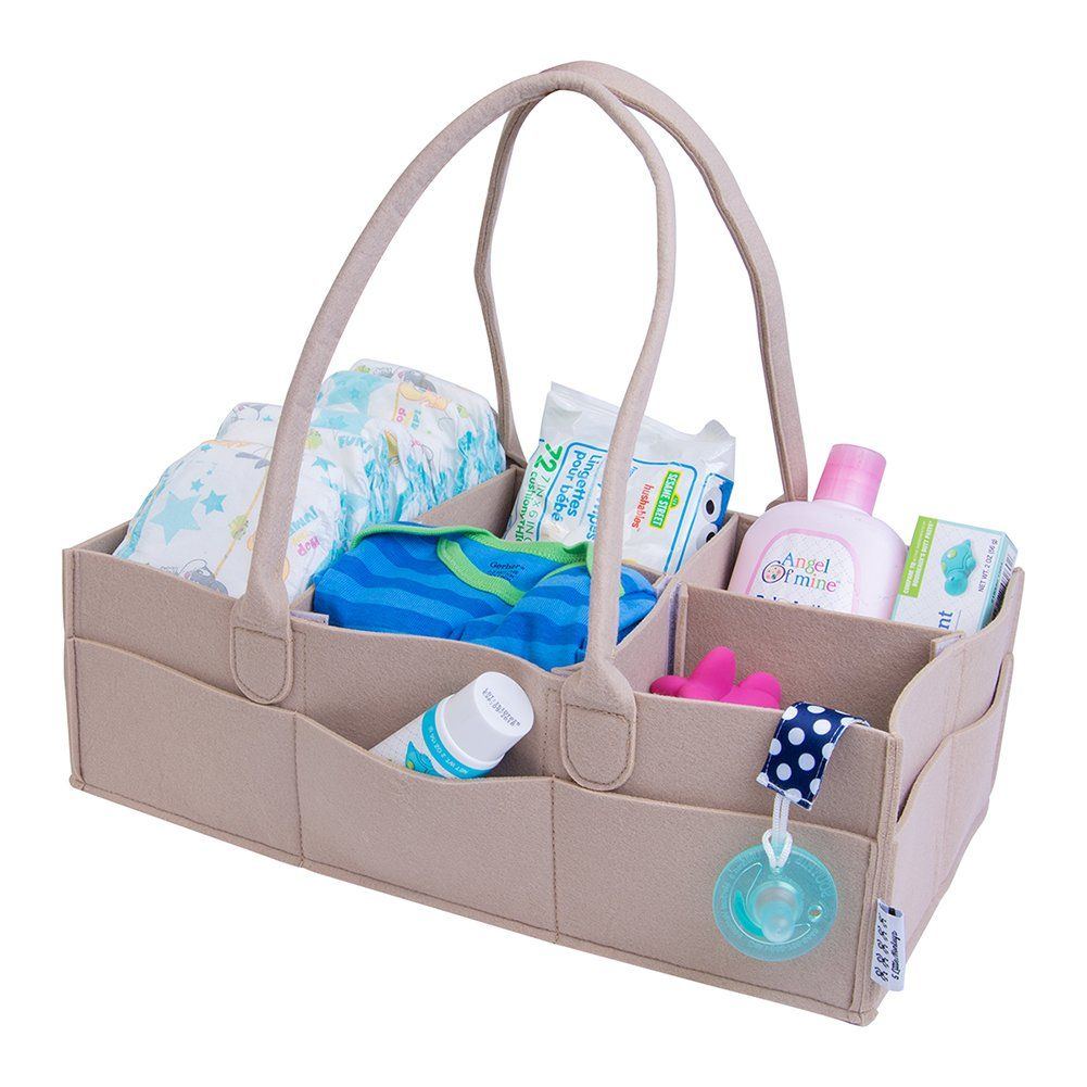 Cloth Diaper Caddy Organizer and Diaper Stacker for Storage of all ...