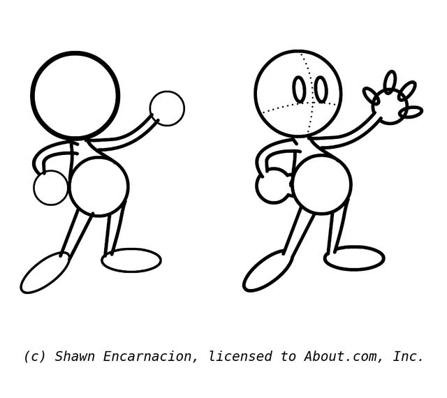 Simple Cartoon Shapes Allow You Draw Any Cute Character Easy Cartoon Characters Simple Cartoon Characters Drawing Cartoon Characters