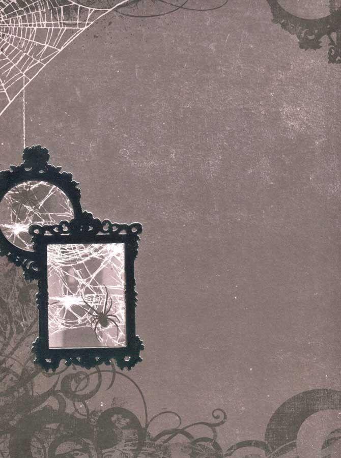 8073 Spooky Mirrors Halloween Backdrop