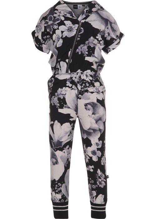 78aec1562e39 Anita - Black Floral - short sleeve jumpsuit with flower print ...