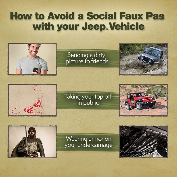 Avoid An Awkward Life Moment With The Help Of Your Jeep Vehicle