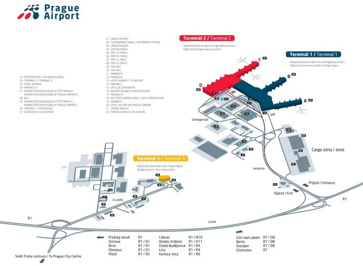 Prague airport map Maps Pinterest Prague airport Prague and